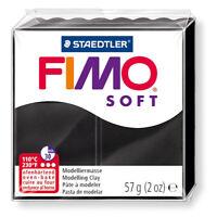 FIMO SOFT 57gr BLACK - Sculpting Clay - GSW