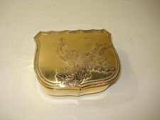 Mele Toyo Music Box Jewelry Box Gold Finish Embossed Peacock