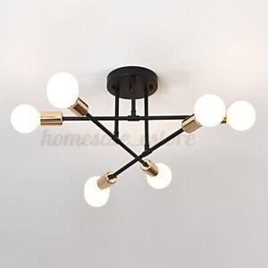 6/8 Head LED Industrial Iron Living Room Chandelier Ceiling Light Pendant Lamp