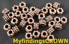 300 pcs Antiqued copper ornate tube spacer beads FC288