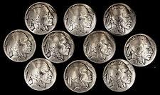 "10 Buffalo Nickel Concho Buttons - 1/8"" Chicago Screw Back - I - BIN"