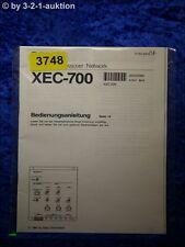 Sony Bedienungsanleitung XEC 700 Crossover Network (#3748)