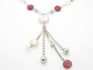 UNIQUE CRYSTAL RED BEAD CHANDELIER NECKLACE NEW GIFT IDEA