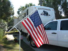 3' x 5' flag with rotating RV flag pole for campground