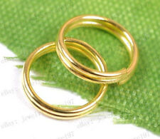 200PCS gold plated Double Loop split Jump Rings Jewelry make findings 5MM