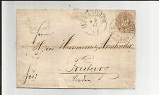 Prusia V./m. Gladbach 5.9.67, 2 k2 en carta m. 18a n. friburgo (Waag. reg. -