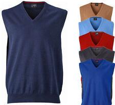 James & Nicholson V-Neck Pullunder V-Ausschnitt Sweatshirt Pullover Jacke S-3XL