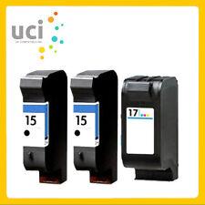 3 Compatible Ink Cartridge For 15 and 17 Deskjet 816c 840C 843C 845C Printer
