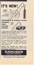 1960 Ad - DANUSER 3-POINT HITCH DIGGER & CRANE BOOM, FULTON, MISSOURI