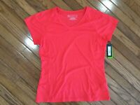 NWT Tek Gear Women's Red V Neck Top Blouse Tee T-shirt Wicking Size L   New