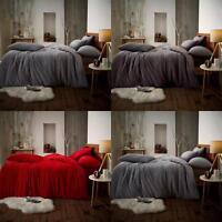 New Winter Fleece Teddy Duvet Cover Warm Soft Bedding Quilt Set & Pillow Cases