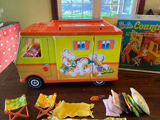 Vintage Barbie Country Camper with Some Accessories And Box Mattel 1970