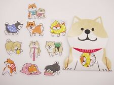 Japanese Shiba Inu sticker flakes! Kawaii dog butt, cute planner stickers, dogs