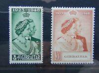 Gibraltar 1948 Royal Silver Wedding set MM