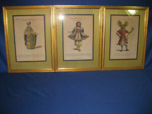 "Three Antique Victorian Colored Engravings From ""New Geographical Dictionary"""