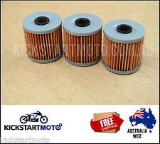 Oil Filter for Kawasaki  KLF220 KLF250 KLF300 KLR250 KLR650 (3 pack) bulk filter