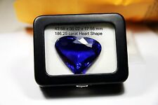 Quality NATURAL 186.25 ct  Loose Heart  SHAPE TANZANITE Violet Blue AAA+++