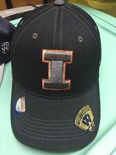 Illinois Fighting Illini NEW Mens Hat Cap Large XLarge Black UI Top of the World