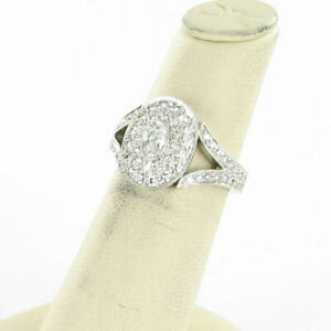 Kwiat Rox Pave Diamond 0.93cts Platinum Ring Oval Center Stone Size 6