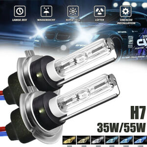 H7 XENON HID KIT 2 BULBS 35W 55W METAL BASE 4.3K 5K 6K 8K 10K 12K CAR HEADLIGHT