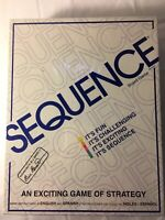 NEW Sequence Game by Jax ~ Strategy Board Game ~ Sealed ~ 1995 #8002 ~ FUN!