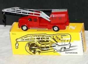 Marklin Autokran Miniature Die-Cast, #8031, Red Version, with Original Box, NM