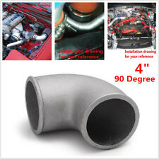 "1pc 4"" 102mm 90Degree Elbow Cast Aluminum Turbo Pipe Intercooler Tight Bend Tube"