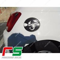 fiat 500 abarth ADESIVI sportello serbatoio sticker decal carbon look 4D