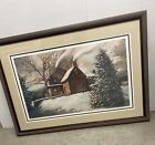 Nicholas Santoleri signed numbered print old colonial house Chester Co PA
