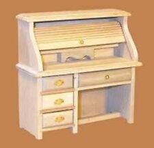 1:12 Scale Natural Finish Wooden Writing Bureau Tumdee Dolls House Miniature 055