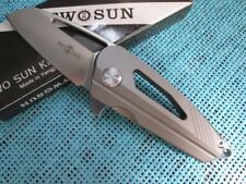 New TwoSun Outdoor Camping Titanium D2 Fast Opening Folding Pocket Knife TS08