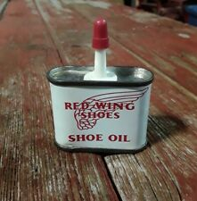 VINTAGE RED WING SHOES 1-OZ HANDY OILER HOUSEHOLD OIL TIN METAL CAN WING LOGO