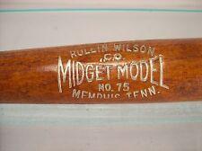 ROLLIN WILSON CO. MIDGET MODEL NO.75 MEMPHIS TENN BASEBALL BAT ANTIQUE VNTG NICE
