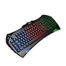 PC Laptop K5 Rainbow Colors Illuminated Gaming Keyboard QWERTY UK Layout