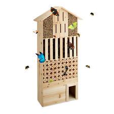Insektenhotel natur XXL Bienen Nisthilfe Schmetterlinge Igelhaus Holz stehend