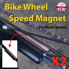 Bike Wheel Speed Magnet Blade Spoke x2 - Thin Discrete Garmin Computer GSC 10
