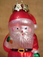 Vintage Santa Claus Glass Christmas Ornament