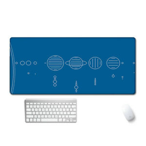 Galaxy Space Planet Mouse Pad Office Computer Keyboard Large Desk Protector Mat