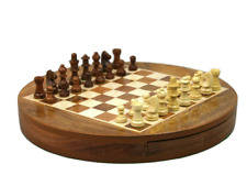 "Chess Set With Storage Drawer 14"""