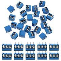60 PièCes SéRies 5Mm Pas 2 Broches et 3 Broches PCB Vis de Montage Bornier A5N1