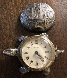 Vintage Bentley Brass Turtle Alarm Clock West Germany Works