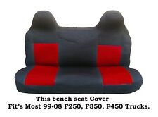 Black/Red Mesh Fabric Bench seat cover Ford F250,F350,F450 Fit's 99-2008 Truck's