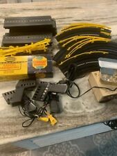 Vintage Aurora Model Motoring Slot Car Track with Controllers + Power Supplier