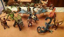 12 pc Lot Includes Schleich Dragons and Other Brands