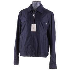 Nuevo con Etiqueta Brioni Cotton-Wool-Silk Storm Sistema Chaqueta Cuero Detalles