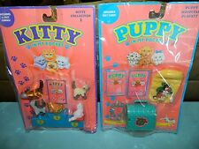 Vintage Puppy In My Pocket & Kitty in My Pocket Playsets Lot Hospital NEW!