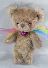 "Mocha Mohair jointed 4 3/4"" Teddy Bear 2008 by artist Beth Diane Hogan"