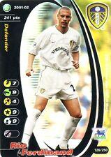 FOOTBALL CHAMPIONS 2001-02 Rio Ferdinand 126/250 Leeds United A.F.C. FOIL