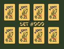Mah Jongg Jong Mahjong Joker Stickers - Set #909 ** Free Shipping **