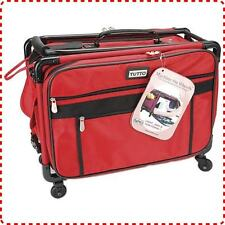 Tutto Extra-Large Machine Bag - 4 Wheels, Heavy Duty Nylon Fabric, Red
